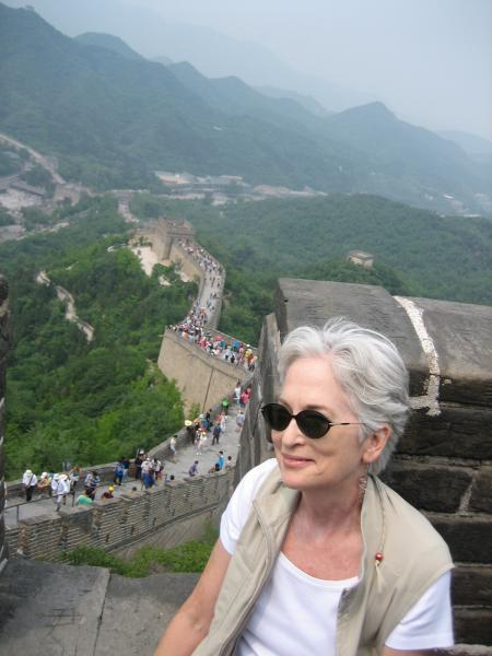 Photo of Dr. Townsley at the Great Wall of China